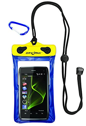 DRY PAK DP-46 Case for Cellphones, GPS and Mp3 - Yellow / Blue