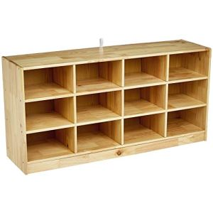 Amazon Basics Wooden 12 Section Horizontal Storage Organizer