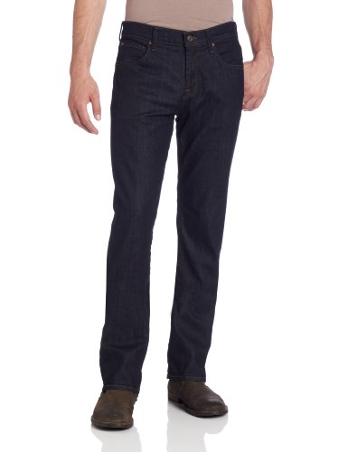 410g4SMf8TL Straight-leg five-pocket jean in uninterrupted wash featuring contrast stitching and small logo patch at back waistband. Zipper fly with button closure. 11 ounces Stretch Italian Denim