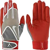 Nike Adult Swingman Leather Batting Glove (RED, M, Size Medium)