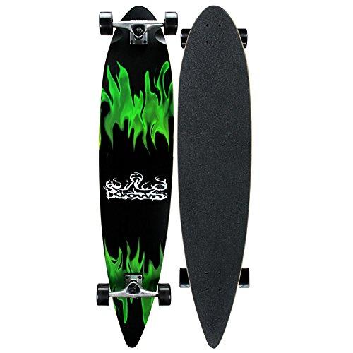 Krown Longboards GREEN FLAME COMPLETE Longboard SALE!!!