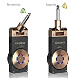 Getaria 2.4GHZ Wireless Guitar System Rechargeable Digital Transmitter Receiver for Electric Guitar Bass Violin