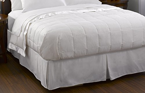 Pacific Coast Feather Company 67807 Down Blanket, Cotton Cover with Satin Border, Hypoallergenic, King, White