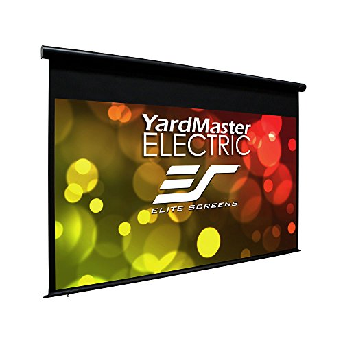 """Elite Screens Yard Master Electric, 120 inch Outdoor Motorized Projector Screen Rain Water Protection 16:9 Remote Control 8K 4K Ultra HD 3D Movie Theater 120 """" Auto Projection Screen, OMS120H-ELECTRIC"""