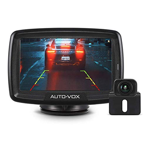AUTO VOX Digital Wireless Backup Camera Kit CS-2, Stable Signal Rear View Monitor and Reversing Camera for Vans,Trucks,Camping Cars,SUV