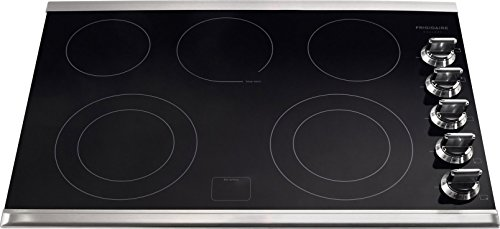 Frigidaire FGEC3067MS 30' Smooth Top Electric Cooktop, Black, Stainless Trim
