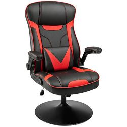 Furniwell Rocking Gaming Chair Racing Computer Game Chairs Office Swivel High Back PC Gamer Chair Adjustable Armrest…