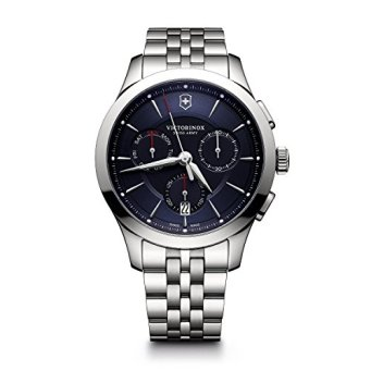 Victorinox Men's Alliance Swiss-Quartz Watch with Stainless-Steel Strap, Silver, 21 (Model: 241746)