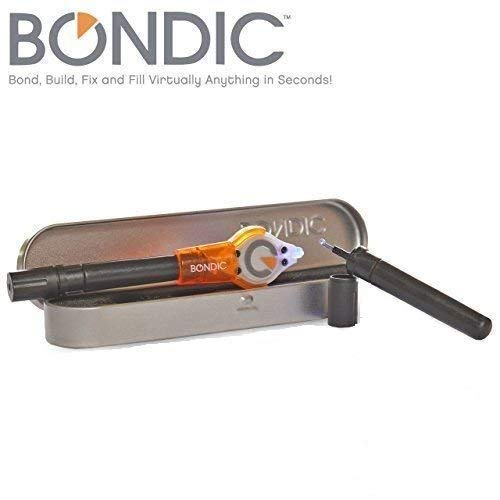 Bondic - Liquid Plastic Welder - LED UV Light Activated Bonding Tool - Waterproof and Heat Resistant Bond, Build, Fix, Fill Anything In Seconds. Starter Kit Includes Bonus Refill