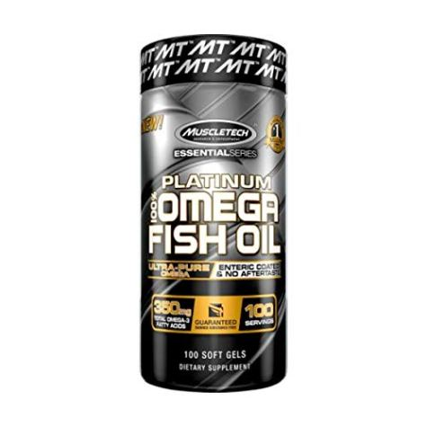MuscleTech Essential Series MuscleTech Platinum Fish Oil – 100 Capsules