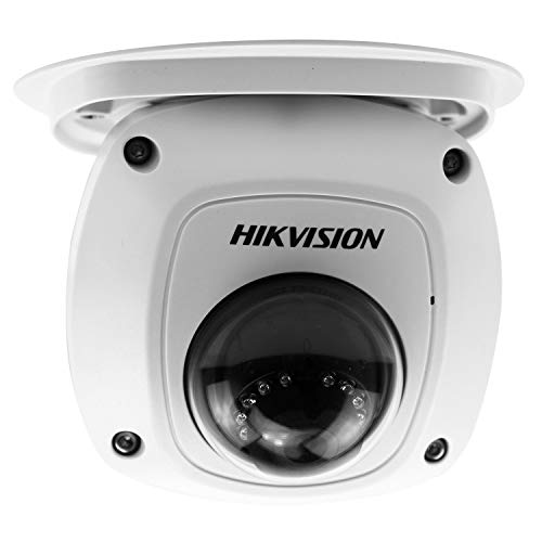 HIKVISION DS-2CD2542FWD-IWS 4MP PoE Wireless Security IP Camera - Mini Dome, Indoor Outdoor, Wide Angle 2.8mm Lens, Built in WiFi, Microphone Audio, WDR IR Day/Night, HD 1080P IP67, 2688X1520