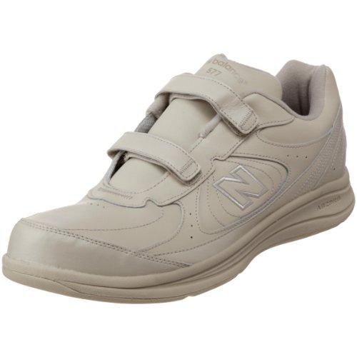 New Balance Men's MW577 Hook and Loop Walking Shoe,  Bone, 15 M US