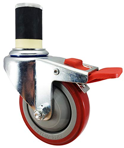 NSF-Certified-4-inch-Caster-Wheel-Set-For-Commercial-Kitchen-Prep-Tables-Total-Locking-Casters-CasterHQ-Brand