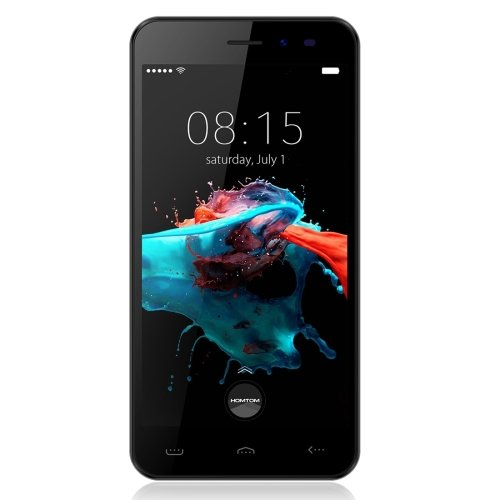 HOMTOM HT16 5.0 Inch Android 6.0 Smartphone, MTK6580 Quad Core 1.3 GHz, 1GB RAM + 8GB ROM GSM & WCDMA (Black)
