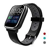 CRATEC W5 Fitness Tracker Heart Rate Sleep Monitor Blood Pressure Waterproof Smart Watch, Long Battery Life Bluetooth Activity Tracker, Large Screen Sports Band for Men Women Teens