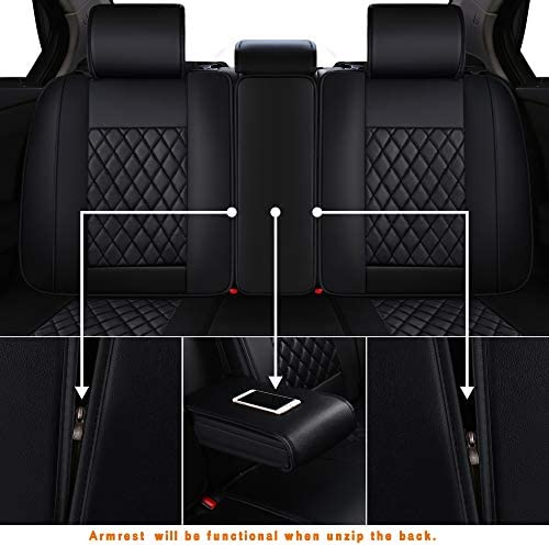 LUCKYMAN CLUB Car Seat Covers Fit Most Sedan SUV Truck - Fit for Corolla Camry Tacoma RAV4(Black 14