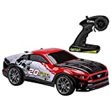 Kid Galaxy 10317 Ford Mustang Remote Control Truck All Terrain Off-Road RC Car. RTR 1/10 Scale 2.4 Ghz 20V Electric Rechargeable, 19 x 11 x 7, Red