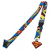 Superman Comic Lanyard with Charm and ID Badge Holder