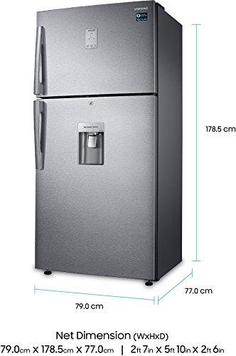 411RSCAi2ZL Samsung 523 L 3 Star ( 2019 ) Frost Free Double Door Refrigerator(RT54K6558SL/TL, Silver, Convertible)
