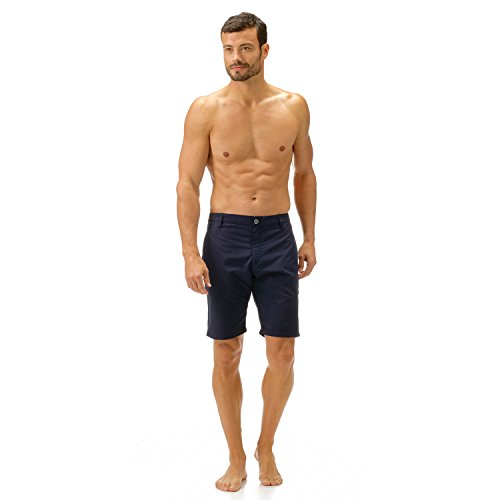 Straight bermuda shorts In the swimsuit fabric Two pockets on the sides