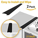 Stove Counter Gap Cover, Long Silicone Gap Cover, Gap Filler for Oven Protector,Countertop, Kitchen Appliances, Set of 2 Black by HomeMarvel (21 inch)