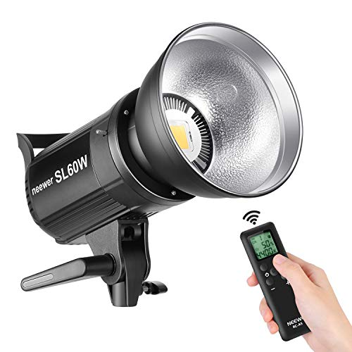 Neewer-SL-60W-LED-Video-Light-White-5600K-Version-60W-CRI-95-TLCI-90-with-Remote-Control-and-Reflector-Continuous-Lighting-Bowens-Mount-for-Video-Recording-Children-Photography-Outdoor-Shooting