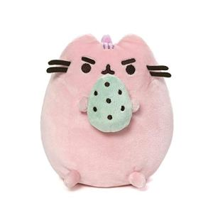 GUND Pusheen Pusheenosaurus Standing with Egg Plush Stuffed Dinosaur Cat 6, Multicolor 411VtMC 2BN6L