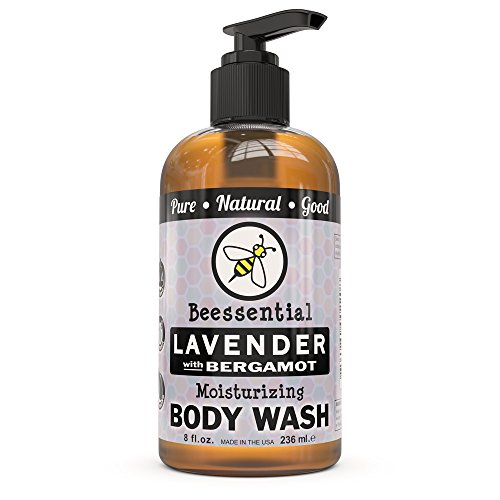 Beessential Body Wash, Lavender And Bergamot, 8 Ounce