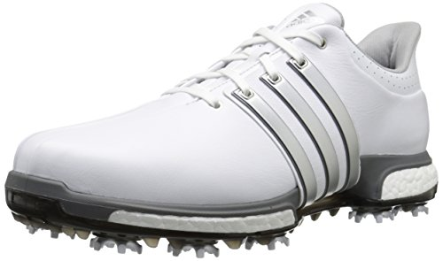 adidas Golf Men's TOUR360 Boost-M, White Dk Silver, 12.5 US