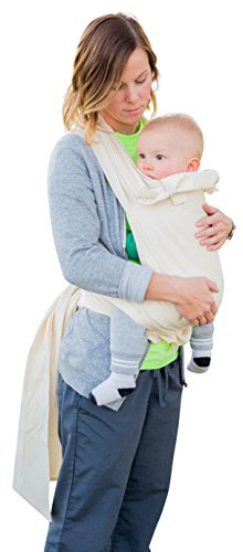 Suse's Kinder One and Only Mei Tai Baby Carrier, Newborn to Toddler, Undyed Natural Cotton