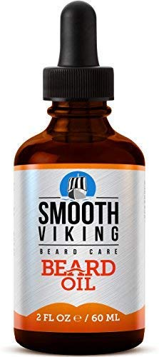 Smooth Viking Beard Oil for Men, Conditions and Promotes Growth for Soft and Itch Free Facial Hair, Leave-in, Argan Oil Formula Grooms Beard and Mustache and Soothes Dry Skin, Beard Care, 2 oz