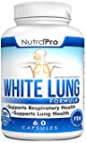 White Lung by NutraPro - Lung Cleanse & Detox. Support Lung Health After Years of Smoking. Supports Respiratory Health. 60 Capsules - Made in GMP Certified Facility.