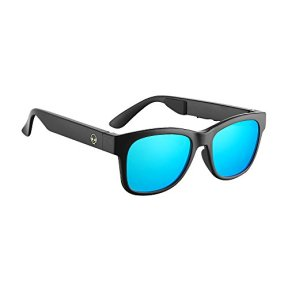 VOCALSKULL-Alien-5-Bone-Conduction-Glasses-Polarized-Sunglasses-Headphones-Headset-Music-Stereo-for-Sports-Running-Cycling-Hiking-IOS-Android-Matted-Black-Frame-Blue