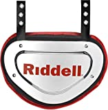 Riddell Sports Back Plate Chrome Finish, One Size Fits Most