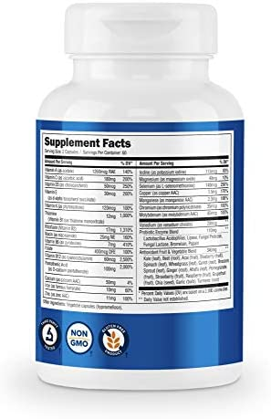 Nutricost Multivitamin 120 Veggie Capsules - with Probiotics, Enzymes, and Antioxidants 5
