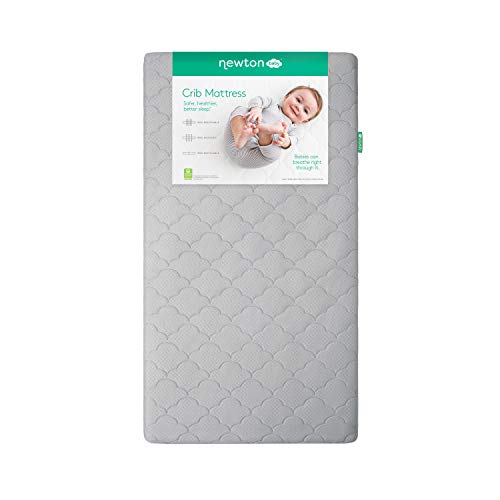 Newton Baby Crib Mattress and Toddler Bed   100% Breathable Proven to Reduce Suffocation Risk, 100% Washable, Hypoallergenic, Non-Toxic, Better Than Organic - Moonlight Grey