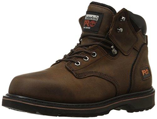 Timberland PRO Men's Pitboss 6' Soft-Toe Boot,Brown,12 W
