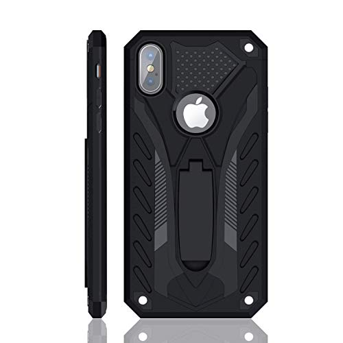 iPhone X Case | iPhone Xs Case | Military Grade | 12ft. Drop Tested Protective Case | Kickstand | Wireless Charging | Compatible with Apple iPhone X/iPhone Xs - Black