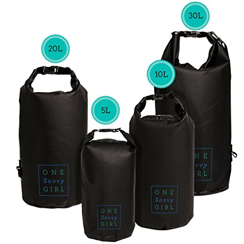 Waterproof Dry Bag – 5L, 10L, 20L, or 30L – Water Proof Bags for Protecting Food and Gear at the Beach or while Kayaking, Hiking, Camping, and Boating - Perfect Drybag Sack for Wet Outdoor Activities