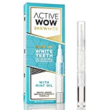 Active Wow 24K White Easy AF Teeth Whitening Pen with Mint Oil - 36% Carbamide Peroxide On The Go Whitening Gel - For Powerful Dental-Grade Whitening Results from Anywhere
