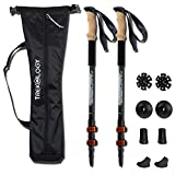 Trekking Walking Poles Collapsible Adjustable Lightweight Aluminum Nordic Treking Stick Telescoping Retractable Hiking Pole Walking Sticks Best for Women Men Kids Seniors Snow Ski Trek Hike Trail