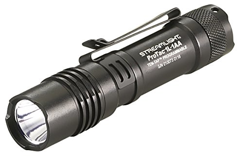 Streamlight 88061 ProTac 1L-1AA 350 Lumen Professional Tactical Flashlight with High/Low/Strobe Dual Fuel use 1x CR123, 1x AA or 1xAA Li-iON