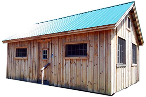 Pre-Cut Kit 16x20 Timber Frame Post and Beam Vermont Cottage (B) with Loft Pre-Cut Kit with Step-by-Step DIY Plans