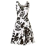 Product review of NREALY Falda Women's Sleeveless Printing Summer Beach A Line Casual Dress Floral Dress