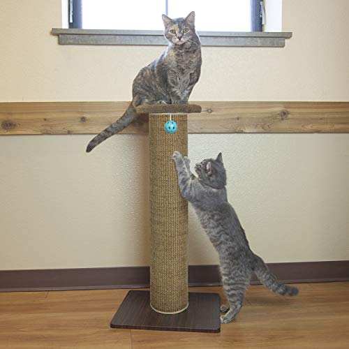 "Kitty City Premium 32"" Tall Woven Sisal Carpet Cat Scratching Post, Cat Scratching Furniture, Cat Post"
