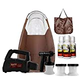 Maxi-Mist Lite Plus HVLP Sunless Spray Tanning KIT Tent Machine Airbrush Tan Maximist BRWN