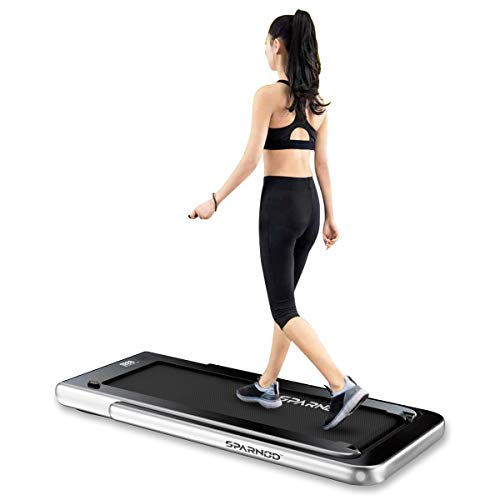 Sparnod-Fitness-STH-3000-Series-4-HP-Peak-2-in-1-Foldable-Treadmill-for-Home-Cum-Under-Desk-Walking-Pad-Slim-Enough-to-be-stored-Under-Bed