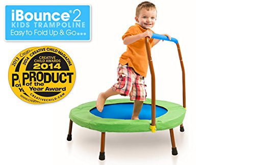 JumpSport iBounce 2 Kids Trampoline. Easy to Fold Up and Go...