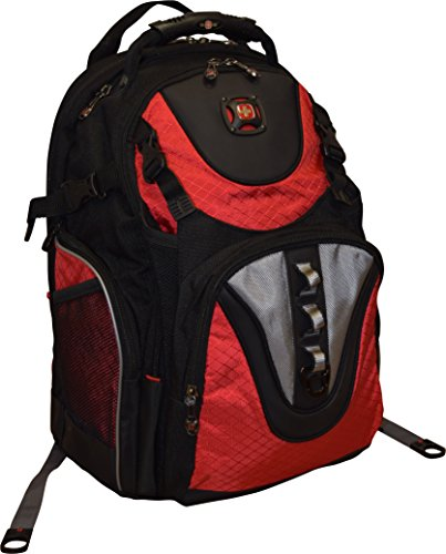 SwissGear Maxxum Double Zipper Backpack With 16' Laptop Pocket, Black/Red