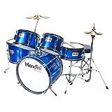 Mendini 5 Drum Set Blue 16-inch MJDS-5-BL